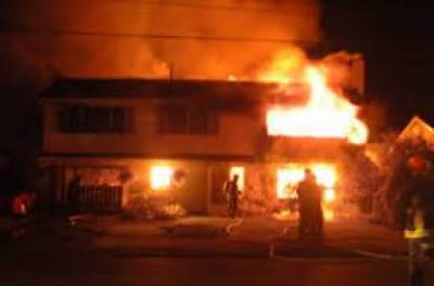 دو گھروں میں آتشزدگی ،لاکھوں کا سامان جل کر تباہ