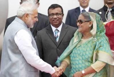 بنگلہ دیش' بھارت میں سرحدی بستیوں کے تبادلے سمیت 22 معاہدے