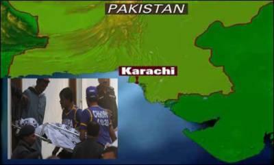 کراچی : تشدد جاری' باپ بیٹے پولیس اہلکار سمیت آٹھ جاں بحق' مقابلے میں دو گینگسٹر ہلاک