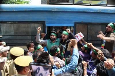 مقبوضہ کشمیر: جیل بھرو تحریک جاری، مزید 21 کشمیریوں نے گرفتاری دیدی: جموں میں مسلمانوں کی کچی آبادی مسمار کرنے کیخلاف احتجاجی مظاہرہ