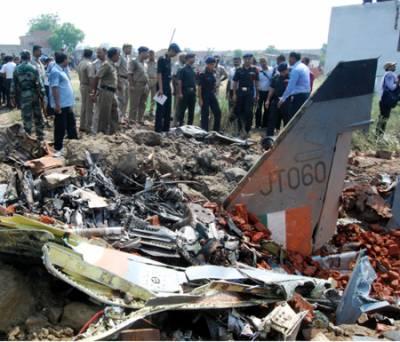 بھارتی فضائیہ کا طیارہ فنی خرابی کے باعث تباہ،دونوں پائلٹ محفوظ