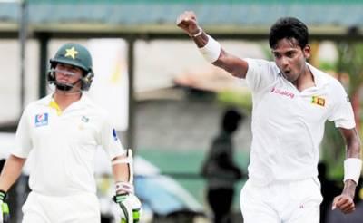 کولمبو ٹیسٹ: پاکستانی بیٹنگ ناکام' 138 پر آئوٹ' سری لنکا کے ایک وکٹ پر 70 رنز