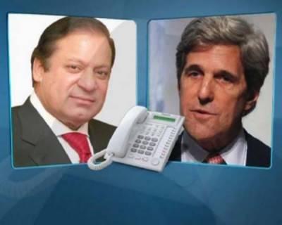 نوازشریف کو فوج ، دہشت گردی کے خلاف کوششوں میں ساتھ ہیں، کیری: پاکستان، افغانستان مفاہمت پر زور