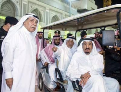 شاہ سلمان حاجیوں کو فراہم سہولتوں کا جائزہ لینے کےلئے منٰی پہنچ گئے