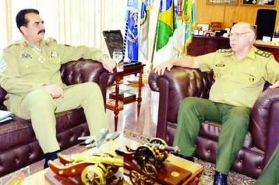 دہشت گردی کے ناسور سے جلد نجات حاصل کر لیں گے: جنرل راحیل ، برازیلین ہم منصب سے ملاقات