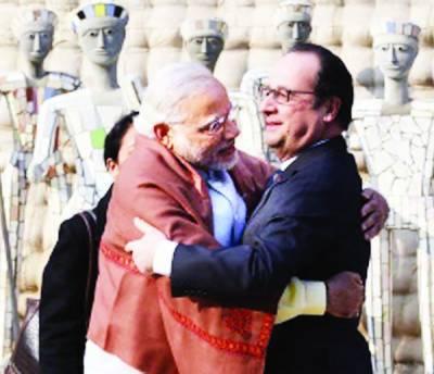 پاکستان پٹھانکوٹ حملے کے ذمہ دار کٹہرے میں لائے: فرانسیسی صدر ،بھارت پہنچ گئے