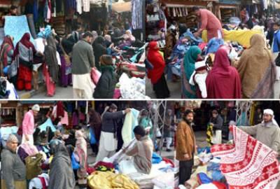 سردی کی شدت نے لنڈا بازاروں کی رونق بڑھا دی