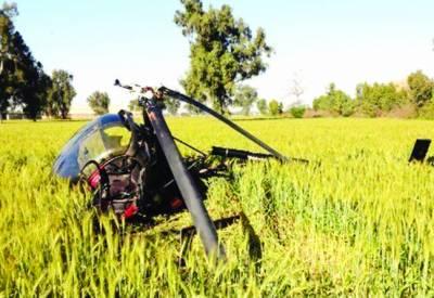 گوجرانوالہ: فوج کا تربیتی ہیلی کاپٹر گر کر تباہ، 2 پائلٹ شدید زخمی