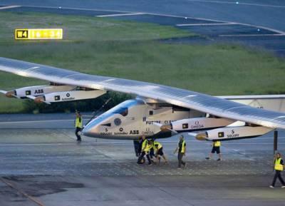 شمسی توانائی سے چلنے والا طیارہ ایریزونا پہنچ گیا