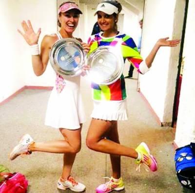 ثانیہ مرزا'مارٹینا ہنگس کی جوڑی نے اٹالین ٹینس ٹورنا منٹ جیت لیا