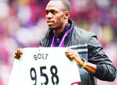 یوسین بولٹ نے مانچسٹر یونائٹیڈ فٹبال کلب کی طرف سے کھیلنے کی خواہش ظاہر کردی