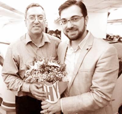 پاکستان کے یوم آزادی کے سلسلہ میں ترکش ائر لائنز کے دفاتر میں مٹھائیاں تقسیم