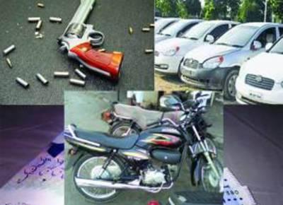 لاکھوں کے ڈاکے، متعدد گاڑیاں، موٹر سائیکلیں چھین لی گئیں