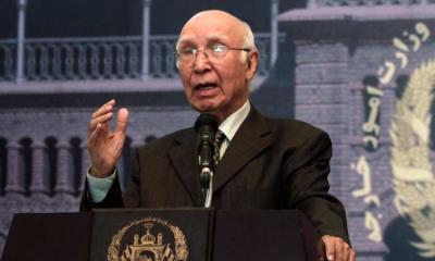 ' دنیا کشمیر، فلسطین کے تنازعات حل کرنے میں ناکام ہو چکی: سرتاج عزیز