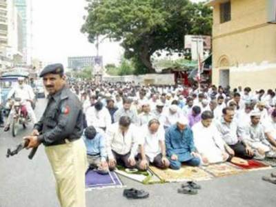 نمازجمعہ کے موقع سکیورٹی ہائی الرٹ رہی