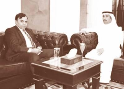 پاکستانی سفیر کی کویتی پارلیمنٹ کے سربراہ سے ملاقات ' کشمیر میں بھارتی مظالم سے آگاہ کیا