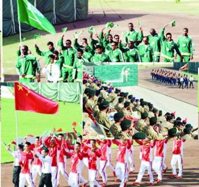 پاک فوج کے زیراہتمام انٹرنیشنل پیسز مقابلوں کی افتتاحی تقریب