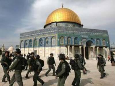اسرائیلی ارکان پارلیمنٹ کو قبلہ اول کی بے حرمتی کی اجازت دیدی گئی