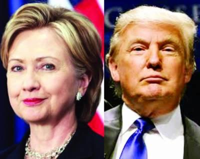 امریکی صدارتی الیکشن پرسوں، ہلیری کو ٹرمپ پر4 پوائنٹس کی برتری، ساری توجہ فلوریڈا پر
