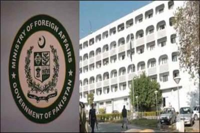 بھارتی ہائی کمشنر کی دفتر خارجہ طلبی' کنٹرول لائن پر توپخانہ کے استعمال کیخلاف احتجاج