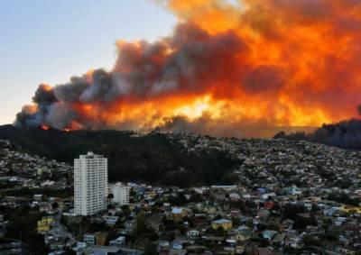 چلی میں ہولناک آتشزدگی' 150 گھر تباہ' 19 افراد زخمی