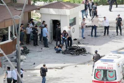 ترکی: عدالت کے باہر کار بم دھماکہ' 2 افراد جاں بحق' 10 زخمی' 2 حملہ آور بھی مارے گئے