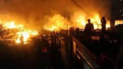 سبزہ زار: فرنیچر کے گودام سمیت 3مقامات پر آتشزدگی