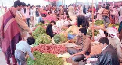 ضلعی انتظامیہ اتوار بازاروں میں گلے سڑے پھل' سبزیوں کی فروخت روکنے میں ناکام