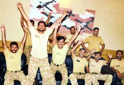 پاک فوج کا قومی ٹیم کی شاندار کامیابی پر جشن