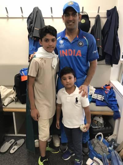 اظہر علی کے بچوں کی بھارتی کھلاڑیوں کیساتھ تصاویر کی دھوم