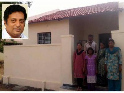تلگوفلموں کے اداکارپرکاش راج نے مسلمان خاندان کو گھر تحفے میں دیدیا