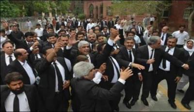 وزیراعظم کیخلاف ہائیکورٹ سے پنجاب اسمبلی تک وکلا ریلی' گو نواز گو کے نعرے