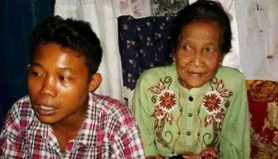 انڈونیشیا : 16 سالہ لڑکے کی 71 سالہ محبوبہ سے شادی