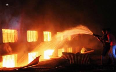 2 گھروں میں آگ لگنے سے لاکھوںکا نقصان