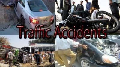 صوبہ بھر میں ایک روز کے دوران 1034 حادثات' 10 افراد کی ہلاکت