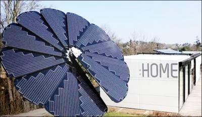 سورج مکھی کی طرح شمسی پینل