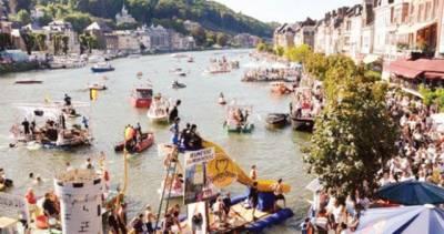 بیلجیئم : باتھ ٹب سے بنی دلچسپ کشتیوں کی ریس