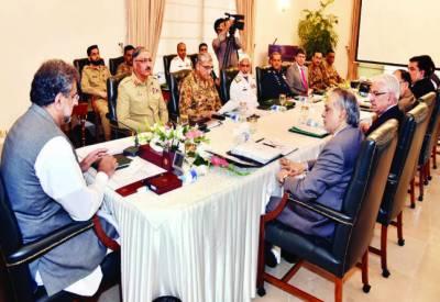 پاکستان میں دہشت پھیلانے والوں سمیت امریکی فوج افغان سرزمین سے شرپسندوں کے ٹھکانے ختم کرے: قومی سلامتی کمیٹی