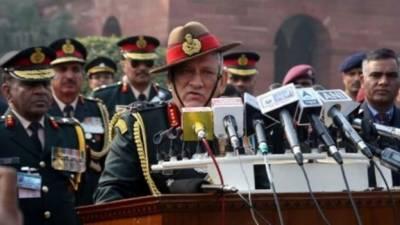 چین مسلسل خطرہ، فوج کو جنگ کےلئے تیار رہنا چاہئے:بھارتی آرمی چیف