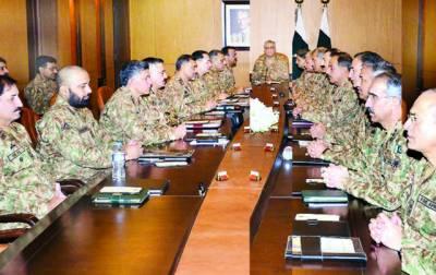 افغان جنگ پاکستان میں لانے کی کوششوں کو ناکام بنا دیا جائے گا: کور کمانڈرز کانفرنس