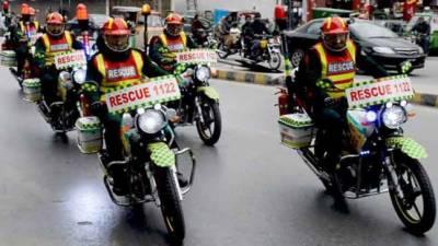 ریسکیو1122 کی50 موٹر سائیکل ایمبولینسیں راولپنڈی پہنچا دی گئیں