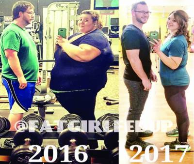 امریکی جوڑے نے ایک برس میں 180 کلو وزن کم کرکے دنیا کو حیران کردیا