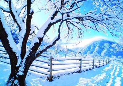 چین: برف کی چادر اوڑھے دلکش مناظر نے سحر میں جکڑ لیا