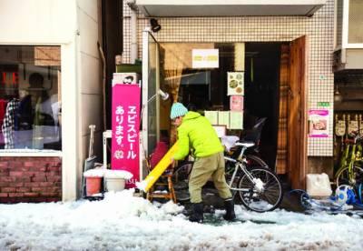 جاپان میںچار برس ریکارڈبرفباری،نظام زندگی مفلوج ،16افراد زخمی ہو گئے