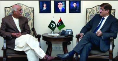 وزیراعلیٰ سندھ سے قائد حزب اختلاف سید خورشید شاہ کی ملاقات ،سیاسی صورت حال اور ترقیاتی کاموں پر تبادلہ خیال
