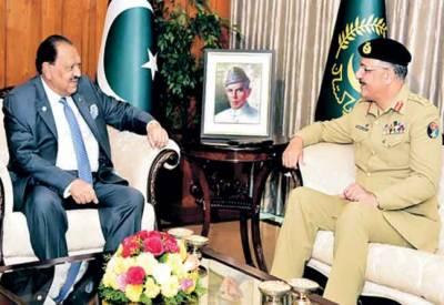 ملکی دفاع کیلئے مسلح افواج کی آپریشنل تیاریاں اطمینان بخش ہیں' صدر ممنون