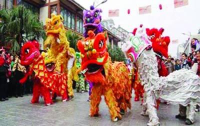 بیجنگ : نئے چینی سال کا استقبال نوجوانوں کی جانب سے شیر کا روایتی رقص