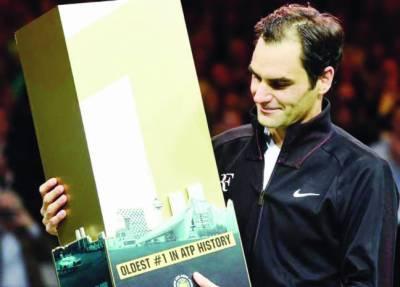 سوئس ٹینس سٹار راجر فیڈرر معمر ترین عالمی نمبر ون کھلاڑی بن گئے