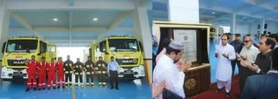 بحریہ ٹائون کراچی میں جدید فائر اسٹیشن کا افتتاح
