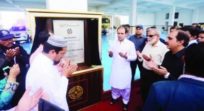 بحریہ ٹائون کراچی میں فائر سٹیشن کی افتتاحی تقریب